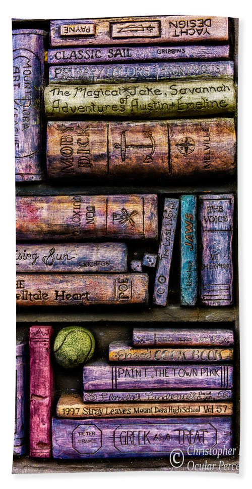 Books Hand Towel featuring the photograph Shelved - 14 by Christopher Holmes