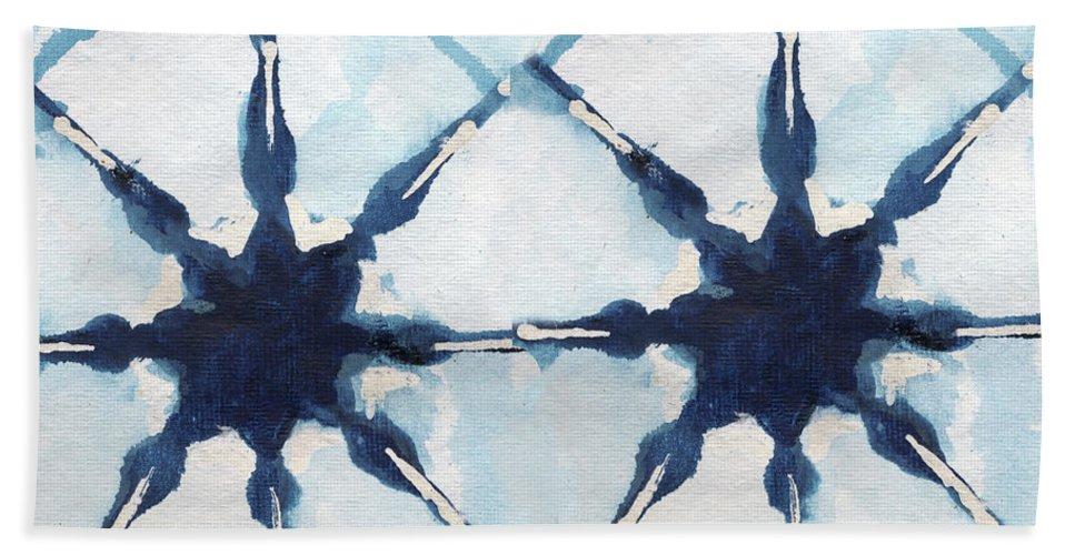 Shibori Bath Towel featuring the digital art Shibori II by Elizabeth Medley