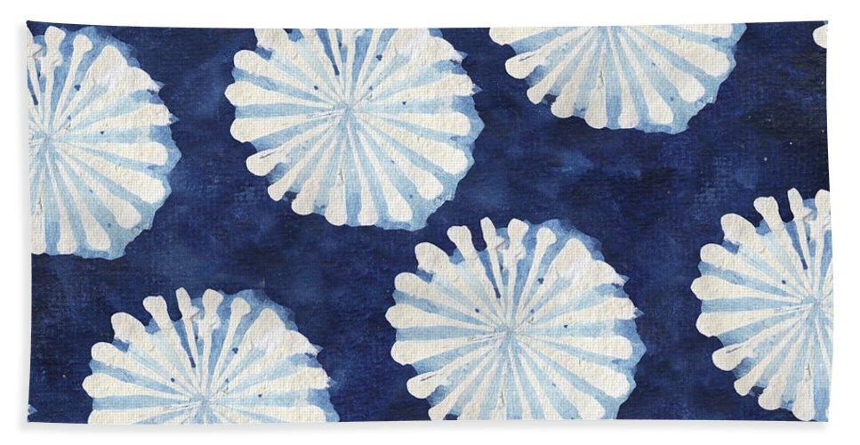 Shibori Bath Towel featuring the digital art Shibori IIi by Elizabeth Medley