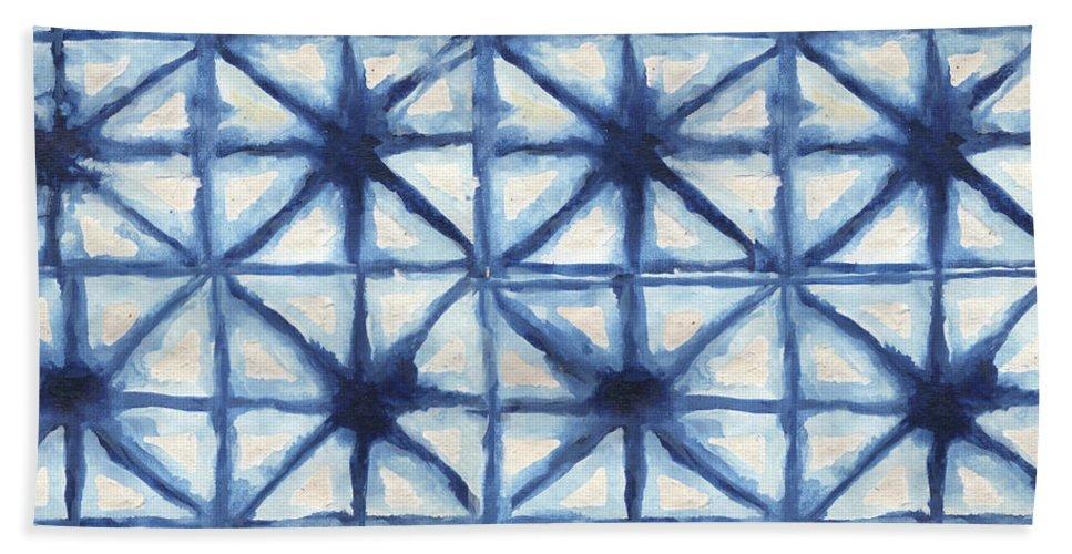 Shibori Bath Towel featuring the digital art Shibori Iv by Elizabeth Medley