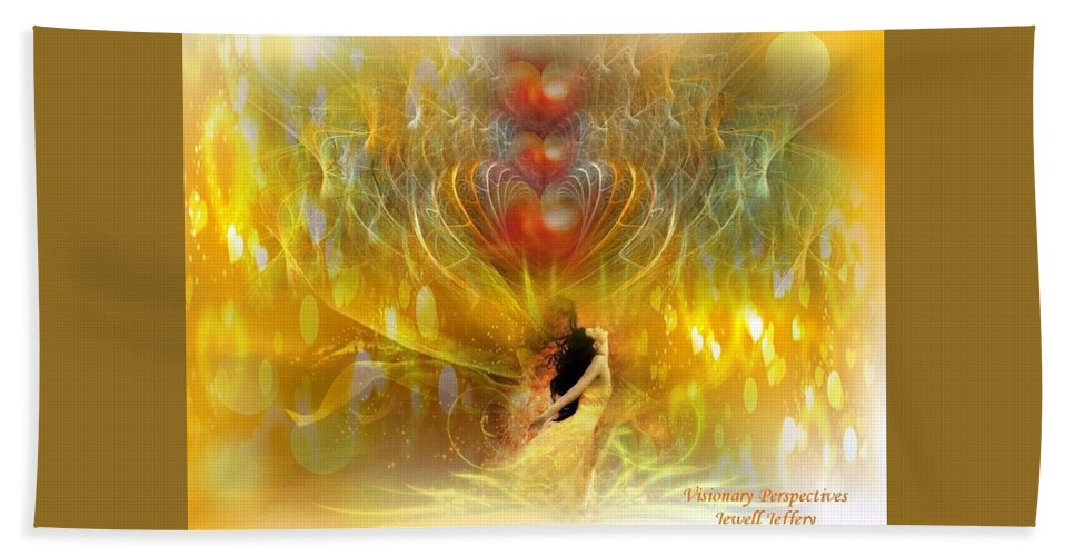 Love Bath Sheet featuring the digital art Shine In Love by Jewell McChesney