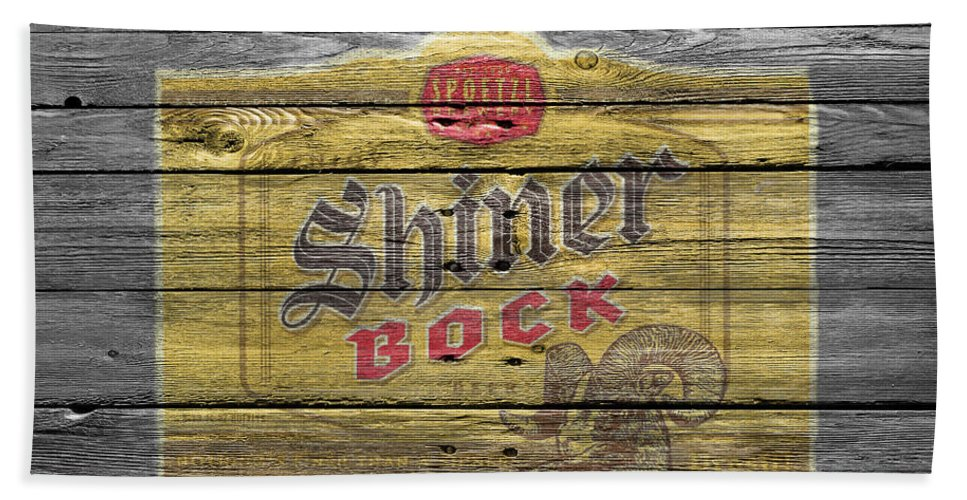 Shiner Bock Hand Towel featuring the photograph Shiner Bock by Joe Hamilton