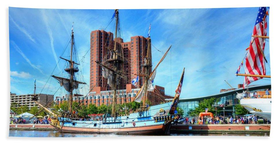 Ship Hand Towel featuring the photograph Ship Ahoy by Debbi Granruth