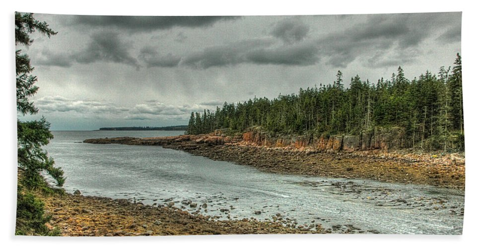 Acadia Bath Sheet featuring the photograph Ship Harbor by Michael Kirk