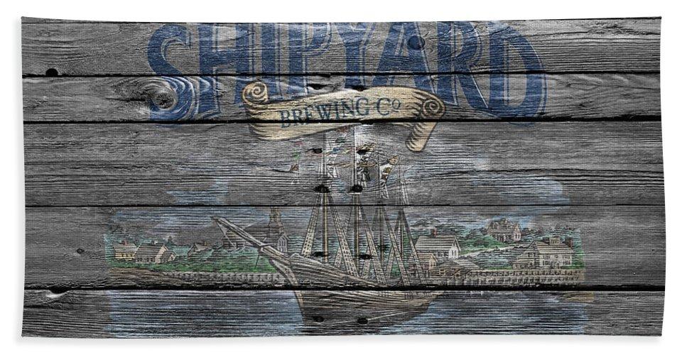 Shipyard Brewing Hand Towel featuring the photograph Shipyard Brewing by Joe Hamilton