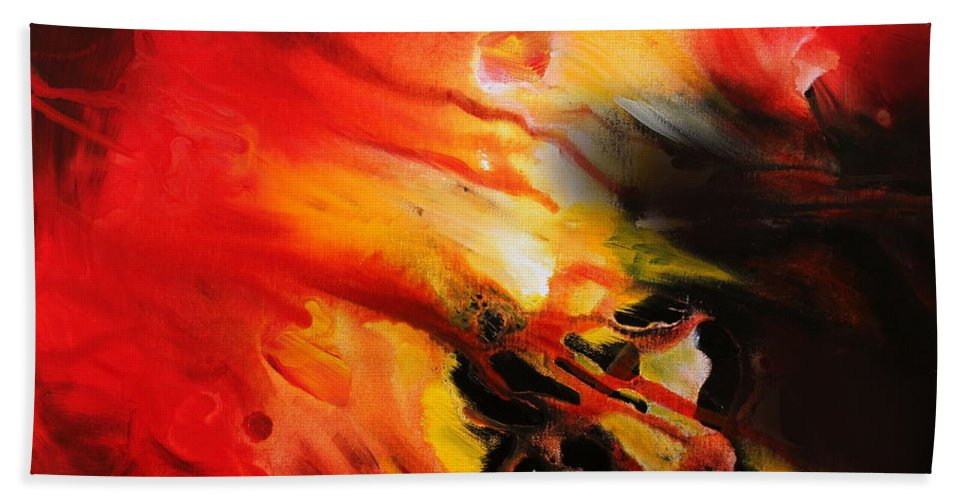 Shooting Star Bath Sheet featuring the painting Shooting Star by Kume Bryant