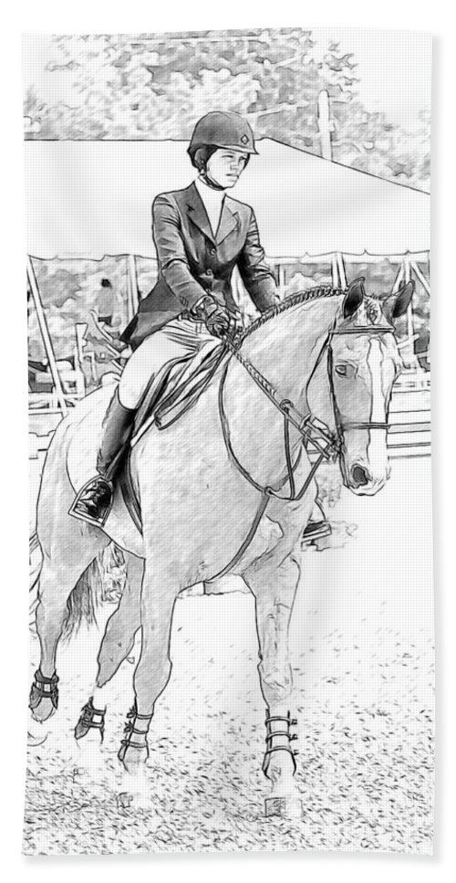 Horse Bath Sheet featuring the photograph Showjumper by Alice Gipson