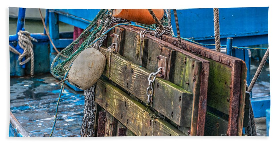 Tools Hand Towel featuring the photograph Shrimpboat Tools Of The Trade by Dale Powell