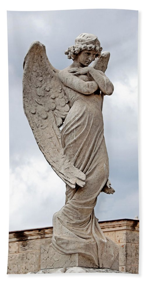 Angel Hand Towel featuring the photograph Shy Angel by Terry Reynoldson