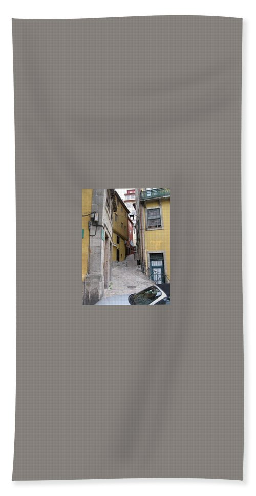 Yellow Bath Sheet featuring the photograph Side Street by Kimberly Maxwell Grantier