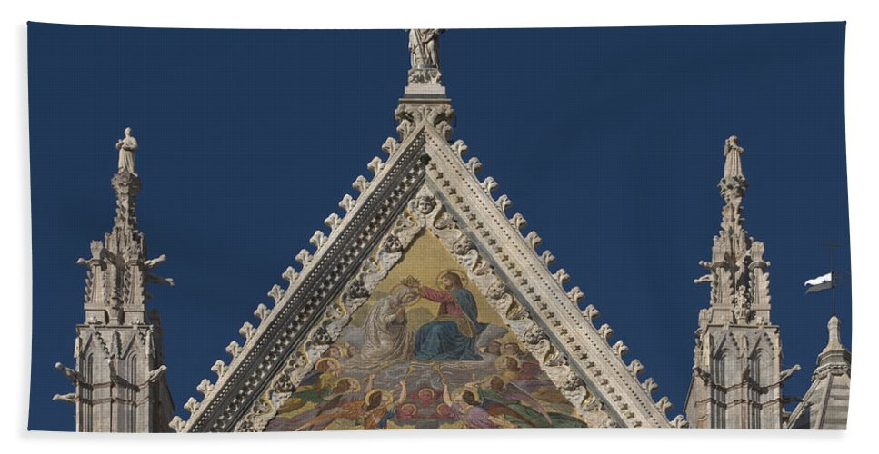 Siena Cathedral Hand Towel featuring the photograph Siena Cathedral by Ayhan Altun