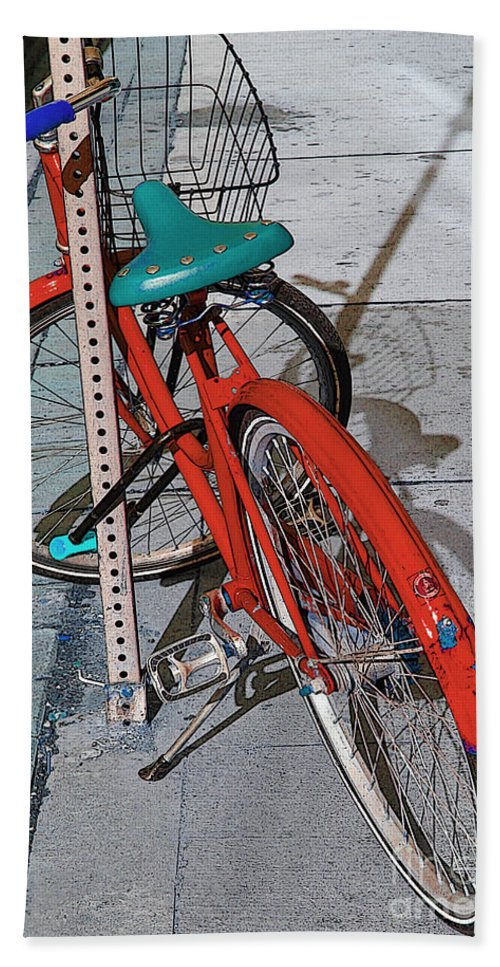 Sundown Hand Towel featuring the photograph Signs Of Parking At Sundown 2 by Nina Silver