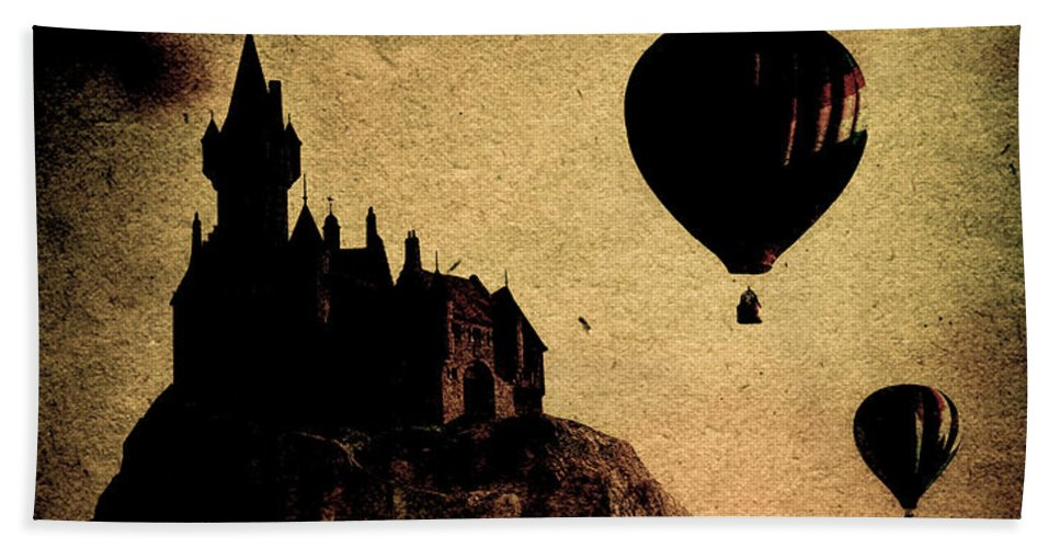 Castle Hand Towel featuring the photograph Silent Journey by Bob Orsillo