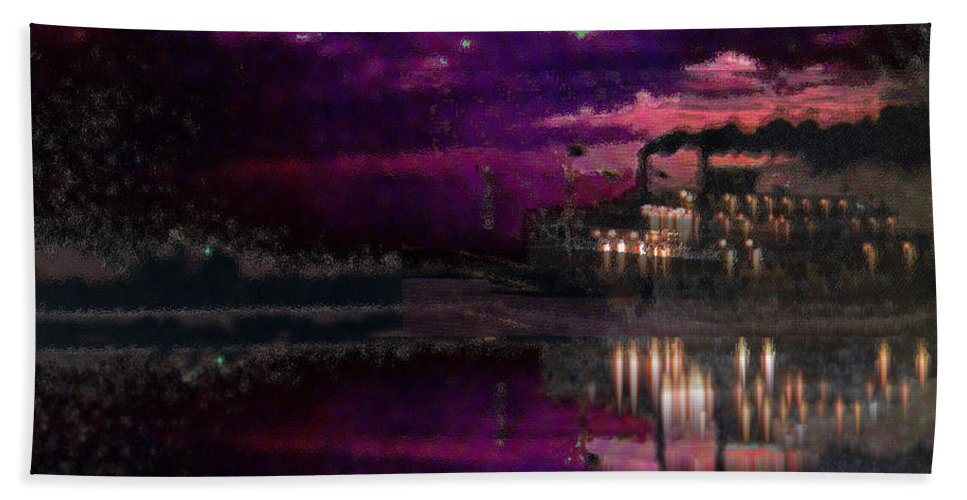 Silent River Hand Towel featuring the digital art Silent River by Seth Weaver