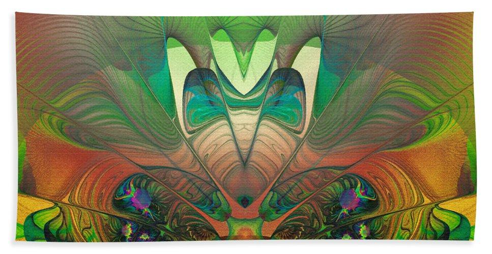 Abstract Bath Sheet featuring the digital art Silk Fan - Abstract by Georgiana Romanovna