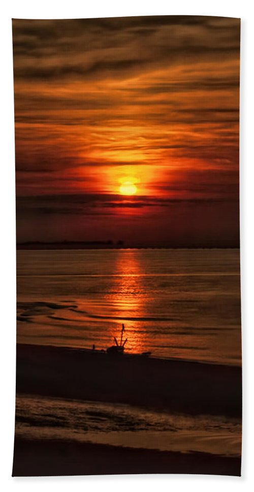Recent Hand Towel featuring the photograph Silouhette In Sunset by Geraldine Scull