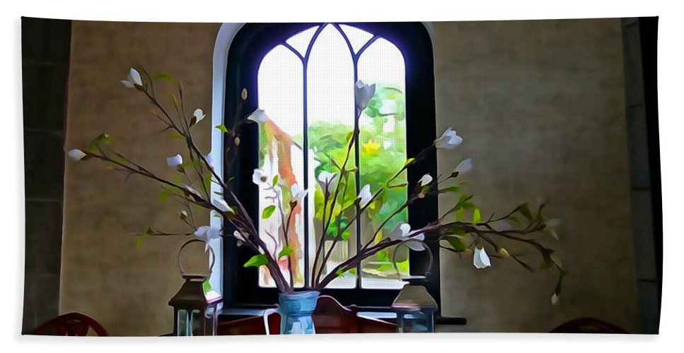 Window Hand Towel featuring the photograph Simple Elegance by Charlie and Norma Brock