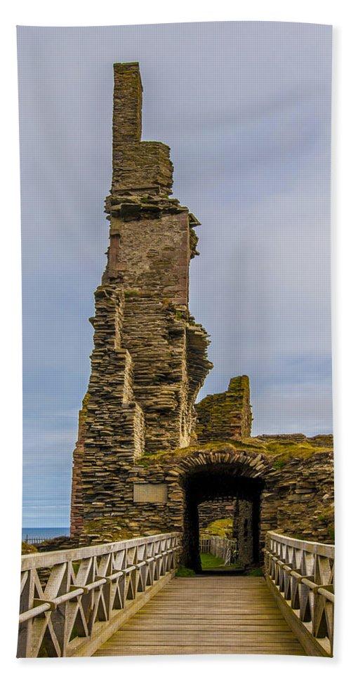 Sinclair Castle Hand Towel featuring the photograph Sinclair Castle Scotland - 6 by Paul Cannon