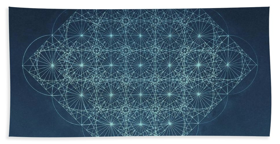 Fractal Bath Sheet featuring the drawing Sine Cosine And Tangent Waves by Jason Padgett
