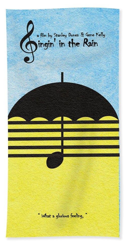 Singin' In The Rain Hand Towel featuring the digital art Singin' In The Rain by Inspirowl Design