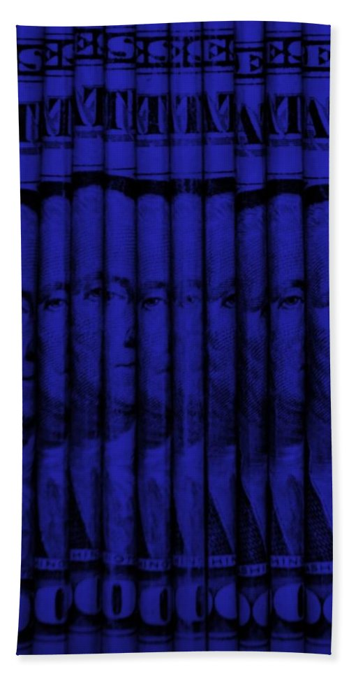Money Hand Towel featuring the photograph Singles In Blue by Rob Hans