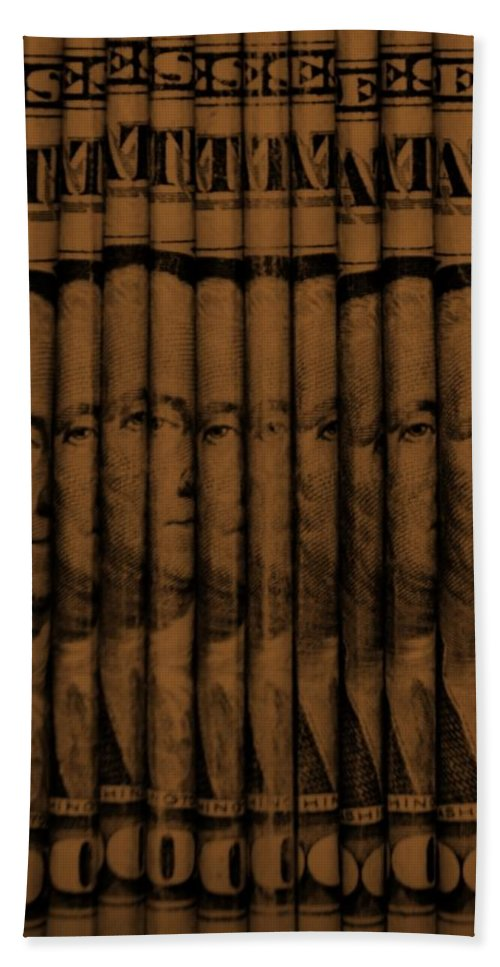 Money Hand Towel featuring the photograph Singles In Copper by Rob Hans