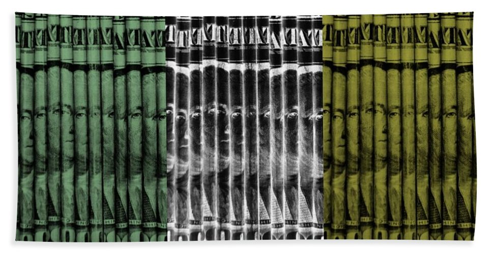 Money Hand Towel featuring the photograph Singles In Tri Colors by Rob Hans