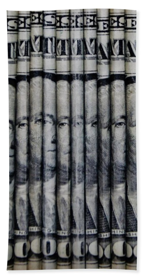 Money Hand Towel featuring the photograph Singles by Rob Hans