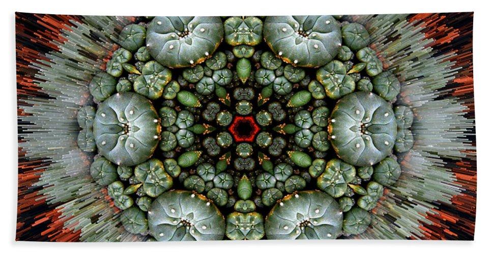 Mandalas Bath Sheet featuring the photograph Sister Cactus Mandala by Richard Copeland