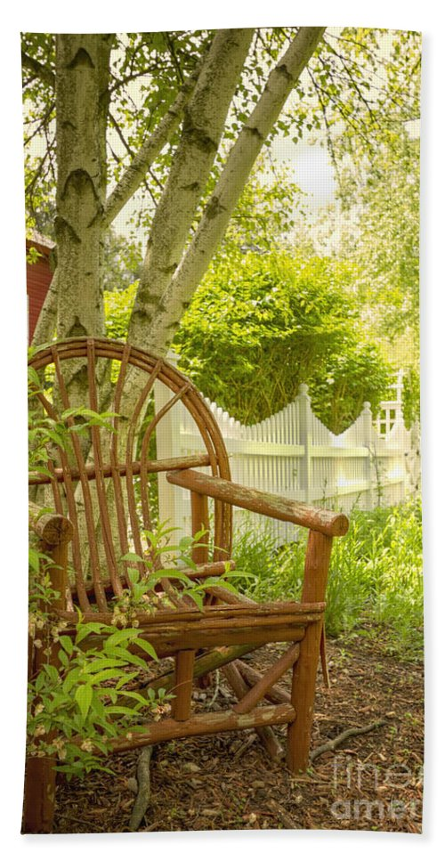 Chair Hand Towel featuring the photograph Sit For A While by Margie Hurwich