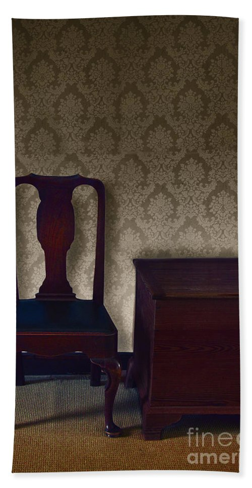 Chair Hand Towel featuring the photograph Sitting Room At Dusk by Margie Hurwich