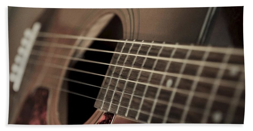Six String Hand Towel featuring the photograph Six String by Photographic Arts And Design Studio