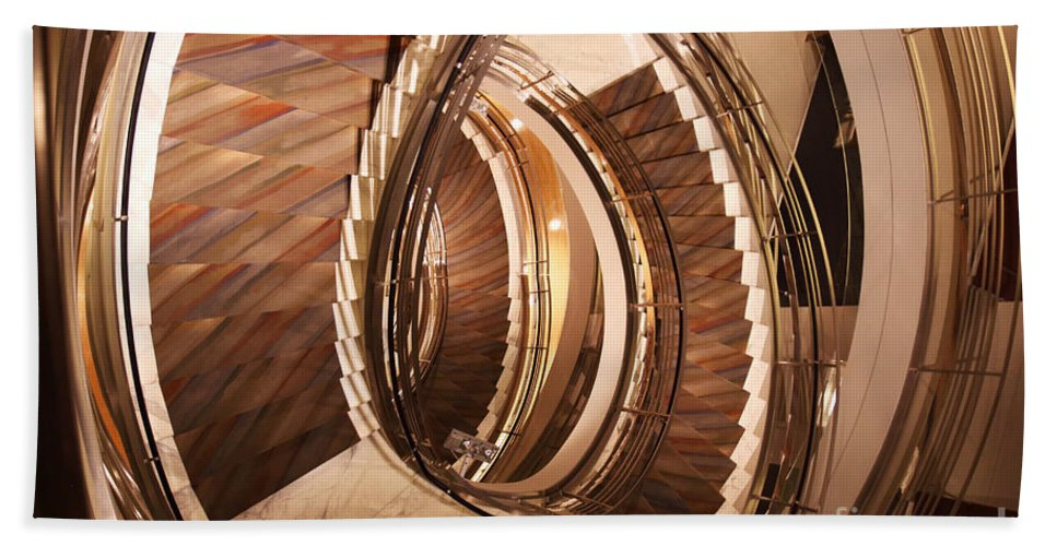 Stairs Hand Towel featuring the photograph Sixth Floor by David Rucker