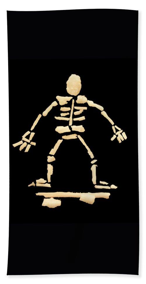 Skateboard Hand Towel featuring the photograph Skateboard Skeleton by Gavin Bates