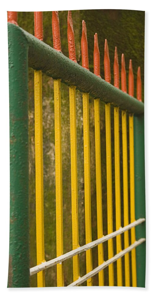 Colorful Bath Sheet featuring the photograph Skc 3266 Colorful Gate by Sunil Kapadia