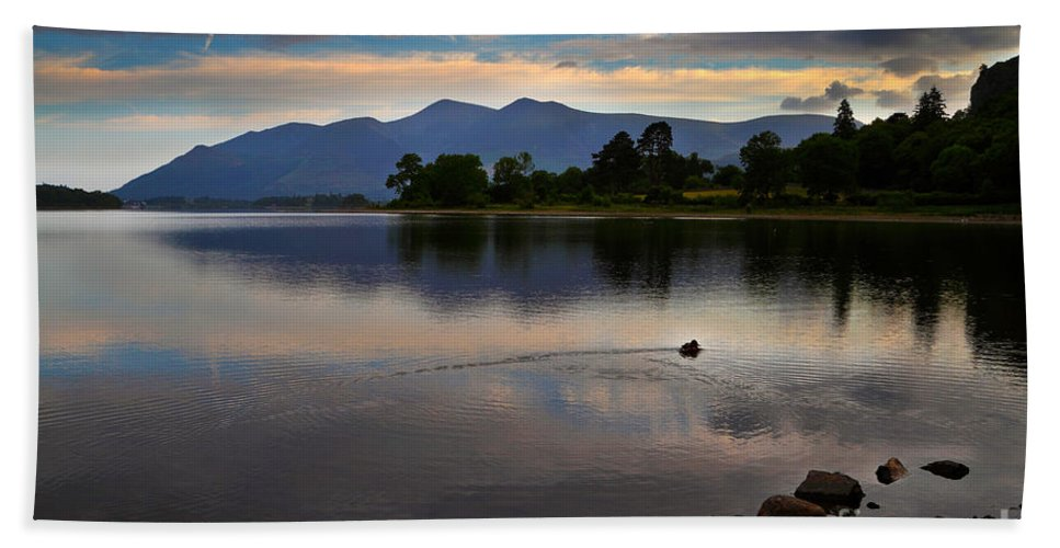 Travel Hand Towel featuring the photograph Skiddaw And Derwent Water At Dawn by Louise Heusinkveld