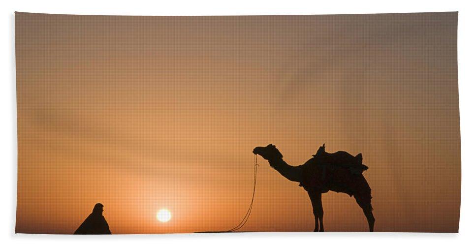 Sunrise Bath Sheet featuring the photograph Skn 0887 Sunrise At The Dunes by Sunil Kapadia