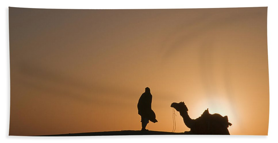 Flaring Bath Sheet featuring the photograph Skn 0911 The Flaring Light Of Sunrise by Sunil Kapadia