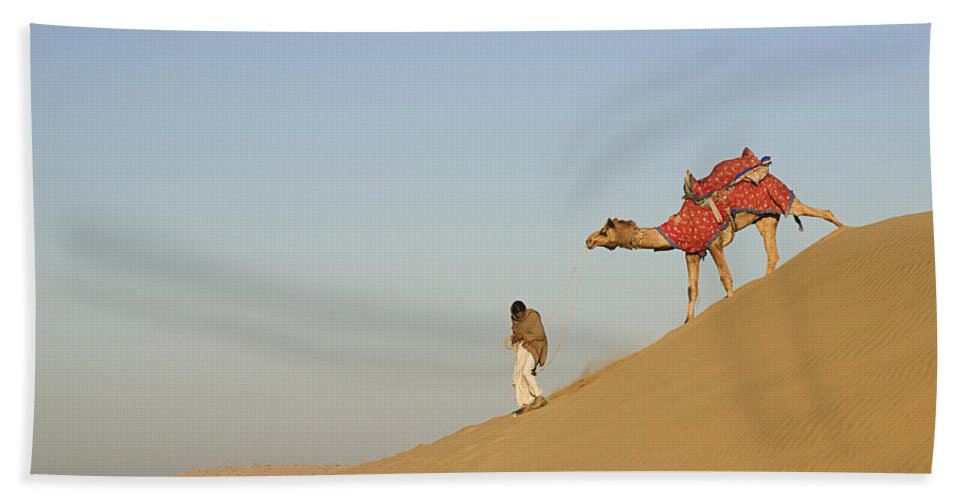 Down Bath Sheet featuring the photograph Skn 0950 Down The Dune by Sunil Kapadia