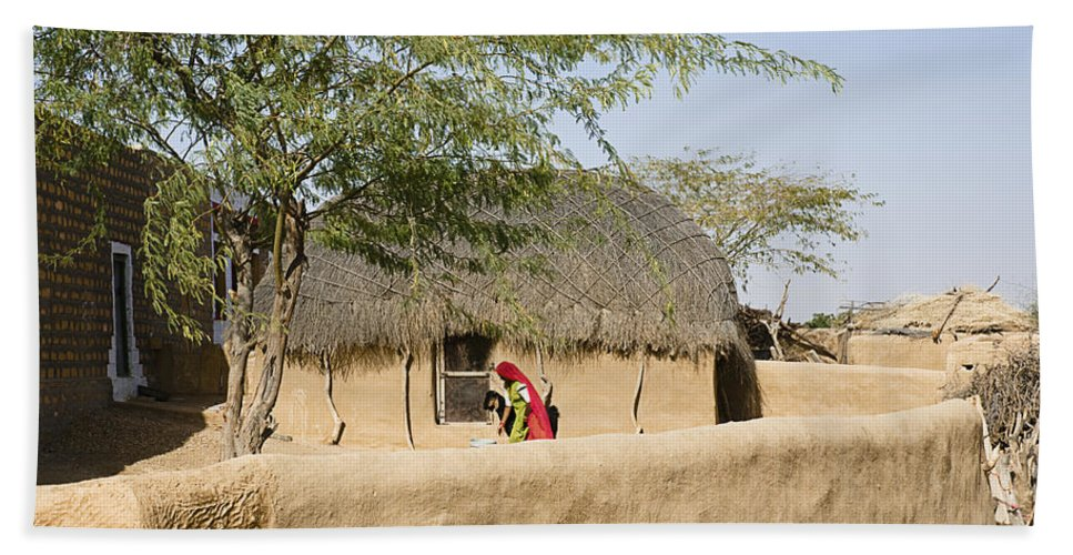 Rural Bath Sheet featuring the photograph Skn 1401 Rural Background by Sunil Kapadia