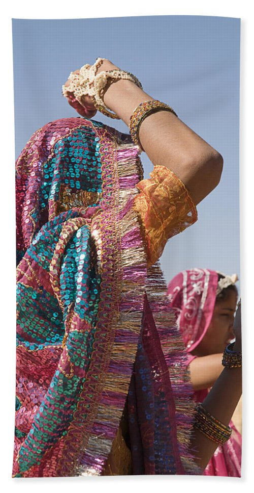 Dress Bath Sheet featuring the photograph Skn 1544 Dressed To Dance by Sunil Kapadia