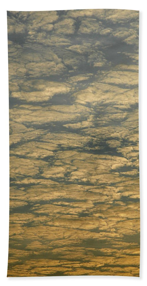 Drama Hand Towel featuring the photograph Skc 0341 Cloud Quilt by Sunil Kapadia