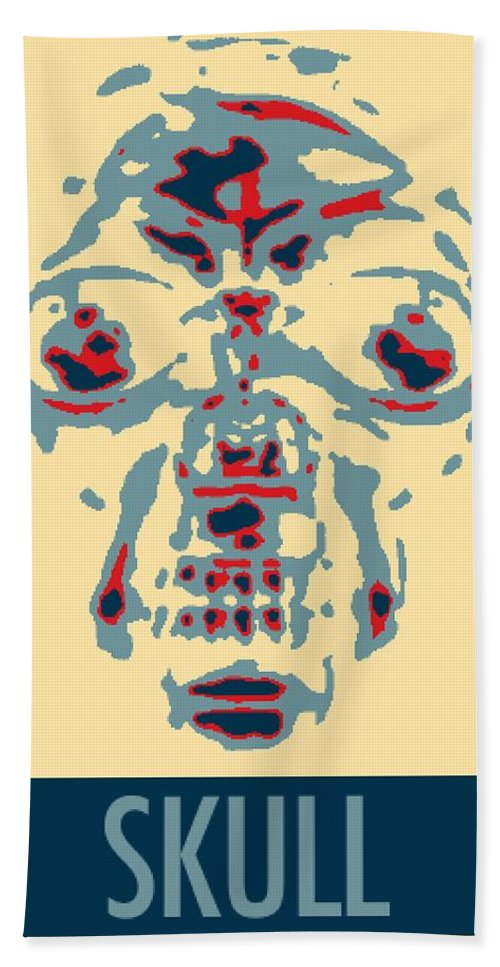 Skull Bath Sheet featuring the photograph Skull In Negative Hope by Rob Hans