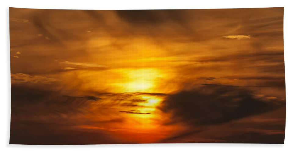 Abstract Bath Sheet featuring the photograph Sky Abstract by Svetlana Sewell