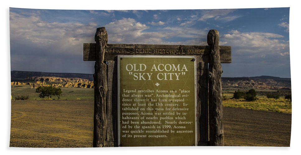 Route 66 Hand Towel featuring the photograph Sky City by Angus Hooper Iii