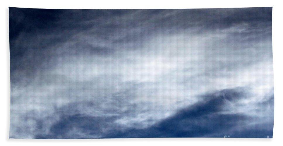 Dark Hand Towel featuring the photograph Sky Clouds by Henrik Lehnerer