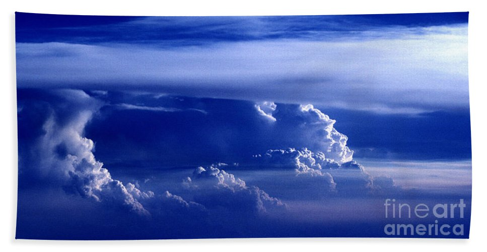 Sky Bath Towel featuring the photograph Sky From Above - 5026 by Paul W Faust - Impressions of Light