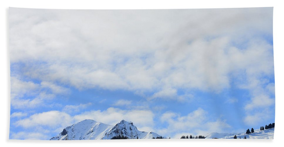 Alps Hand Towel featuring the photograph Sky Is The Limit by Felicia Tica