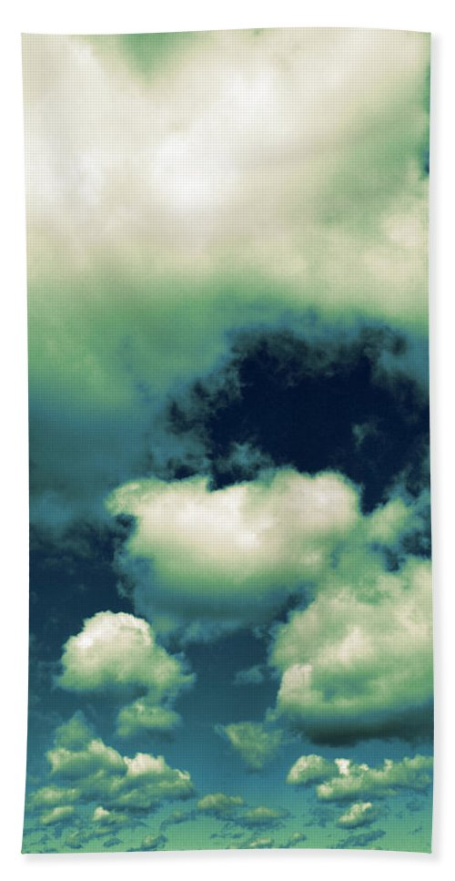 Blue Hand Towel featuring the photograph Sky by Michelle Calkins