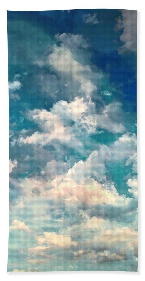 Sky Moods Bath Sheet featuring the photograph Sky Moods - Refreshing by Glenn McCarthy